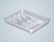 ALFA plastik Příborník široký 34,5 x 26 x 4,5 cm, plast, bílý/hnědý
