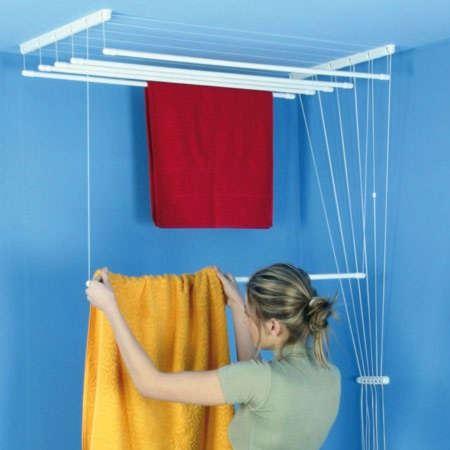 ALDO Stropní sušák na prádlo IDEAL 6 tyčí, 200 cm, 55 cm