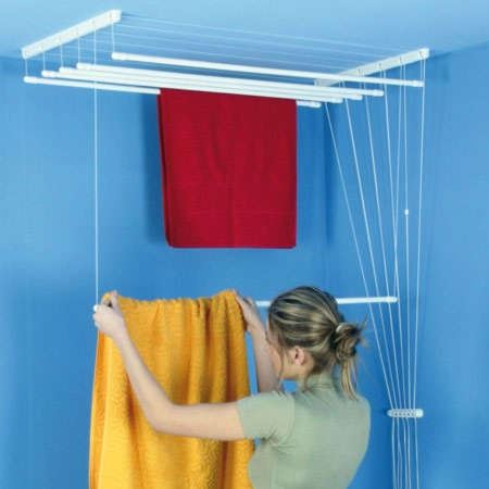 BENCO Stropní sušák na prádlo IDEAL, 120 cm, 55 cm , 6 tyčí