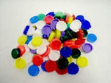 PLZEŇSKÉ DÍLO Zátka, víčko, závěr lahví korunkový 1 ks, plast, barvy mix