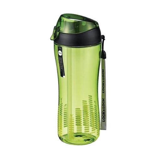 LOCK & LOCK Sportovní lahev 550 ml zelená, sil. brčko