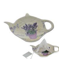 ORION Tácek LEVANDULE pod čajový sáček, porcelán