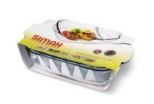 SIMAX Pekáč hranatý s víkem 3,2 l + 2,3 l, 36,5 x 20,5 x 13,5 cm_2