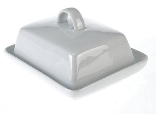 AXENTIA Dóza na máslo porcelánová, 15,7 x 13 cm