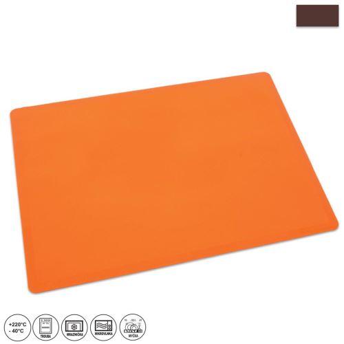 ORION Vál silikonový na těsto 50 x 40 x 0,1 cm, oranžový